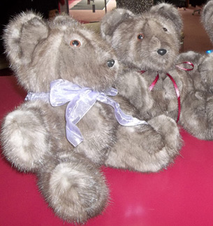 Teddy Bears made from a recycled fur coat